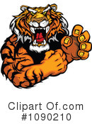 Royalty-Free (RF) Tiger Clipart Illustration #1090210