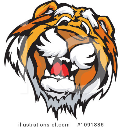 Tiger Clipart #1091886 by Chromaco