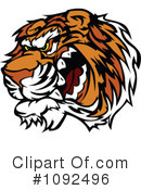 Royalty-Free (RF) Tiger Clipart Illustration #1092496