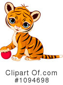 Royalty-Free (RF) Tiger Clipart Illustration #1094698