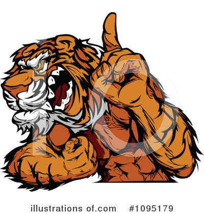 Royalty-Free (RF) Tiger Clipart Illustration by Chromaco - Stock Sample #1095179