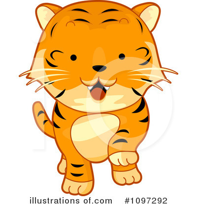 Tiger Clipart #1097292 by BNP Design Studio