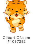 Royalty-Free (RF) tiger Clipart Illustration #1097292
