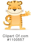 Royalty-Free (RF) Tiger Clipart Illustration #1100557