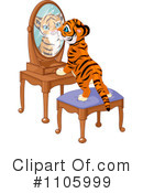 Royalty-Free (RF) tiger Clipart Illustration #1105999