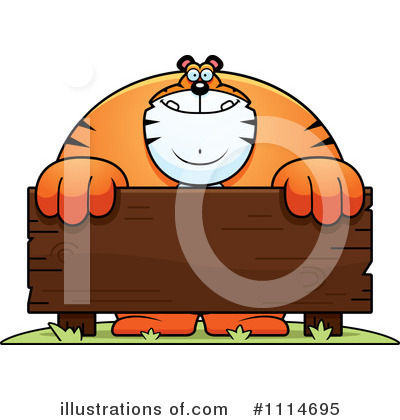 Tiger Clipart #1114695 by Cory Thoman