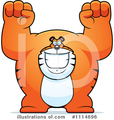 Tiger Clipart #1114696 by Cory Thoman