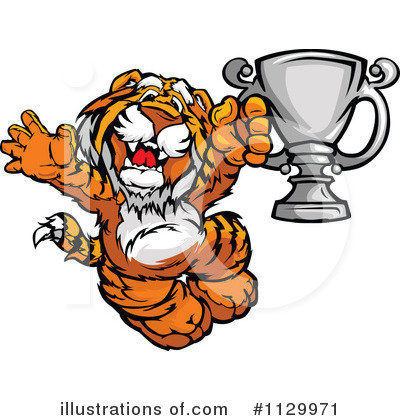 Tiger Clipart #1129971 by Chromaco