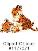 Royalty-Free (RF) Tiger Clipart Illustration #1177371