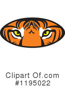 Tiger Clipart #1195022 by Johnny Sajem