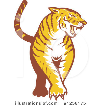 Tiger Clipart #1258175 by patrimonio