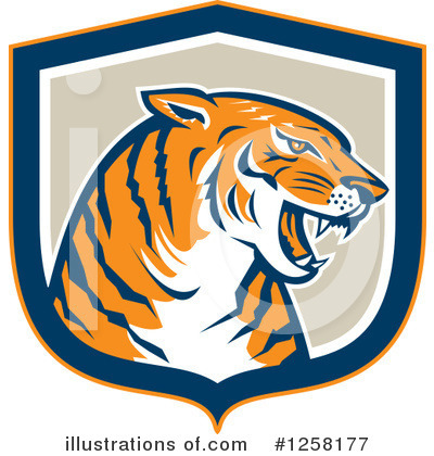 Royalty-Free (RF) Tiger Clipart Illustration by patrimonio - Stock Sample #1258177