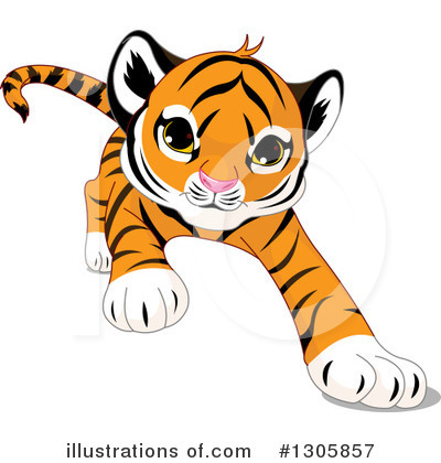 Tiger Clipart #1305857 by Pushkin