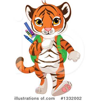 Tiger Clipart #1332002 by Pushkin