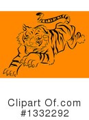 Tiger Clipart #1332292 by BNP Design Studio
