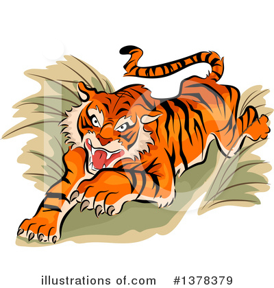 Tiger Clipart #1378379 by BNP Design Studio