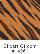 Royalty-Free (RF) Tiger Clipart Illustration #14261