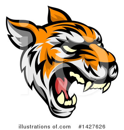 Tiger Clipart #1427626 by AtStockIllustration