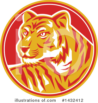 Tiger Clipart #1432412 by patrimonio