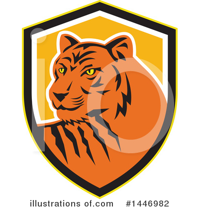 Tiger Clipart #1446982 by patrimonio