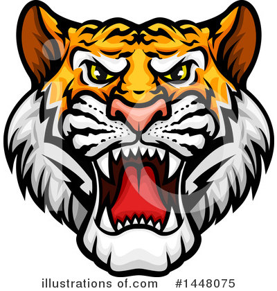 Tiger Clipart #1448075 by Vector Tradition SM