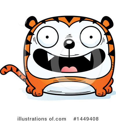 Tiger Clipart #1449408 by Cory Thoman