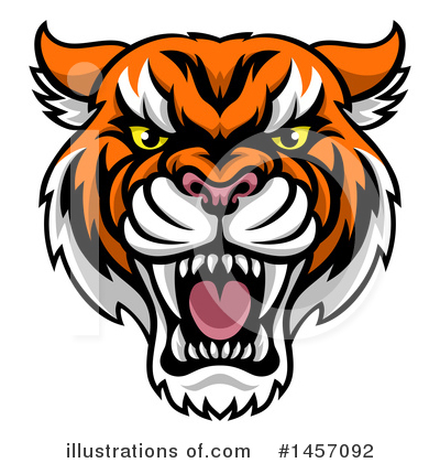 Tiger Clipart #1457092 by AtStockIllustration
