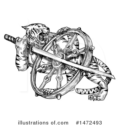 Tiger Clipart #1472493 by patrimonio