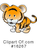 Royalty-Free (RF) tiger Clipart Illustration #16267