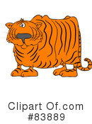 Royalty-Free (RF) Tiger Clipart Illustration #83889