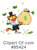 Royalty-Free (RF) Tiger Clipart Illustration #85424
