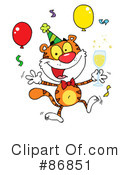 Royalty-Free (RF) Tiger Clipart Illustration #86851