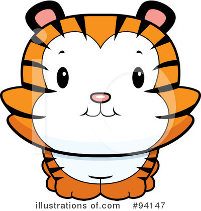Tiger Clipart #94147 by Cory Thoman