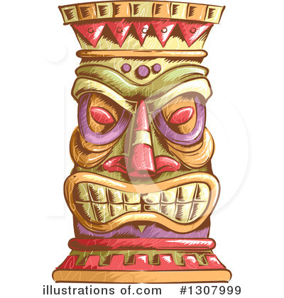 Tiki Clipart #1307999 by BNP Design Studio