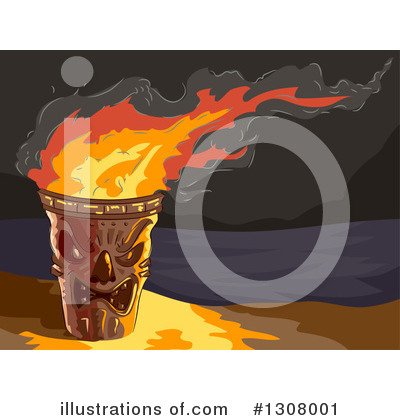 Tiki Torch Clipart #1308001 by BNP Design Studio
