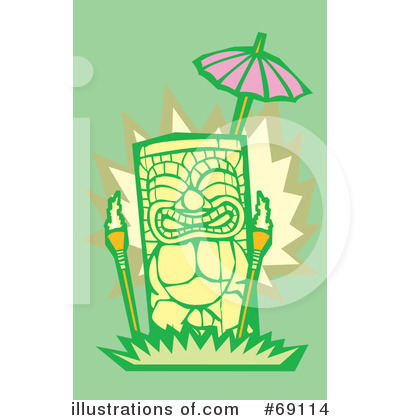 Royalty-Free (RF) Tiki Clipart Illustration by xunantunich - Stock Sample #69114