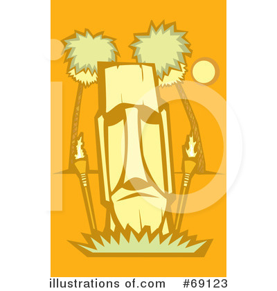 Royalty-Free (RF) Tiki Clipart Illustration by xunantunich - Stock Sample #69123