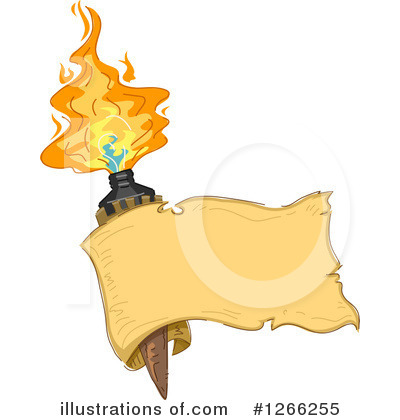Tiki Torch Clipart #1266255 by BNP Design Studio