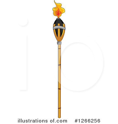 Tiki Torch Clipart #1266256 by BNP Design Studio