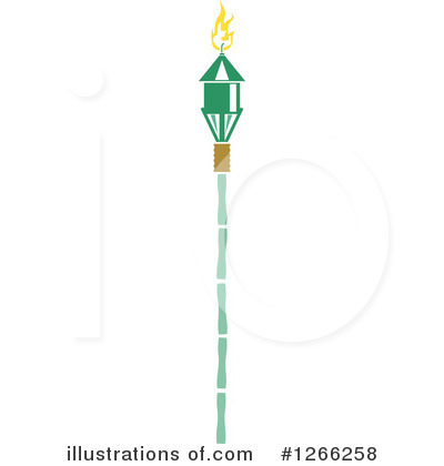 Tiki Torch Clipart #1266258 by BNP Design Studio