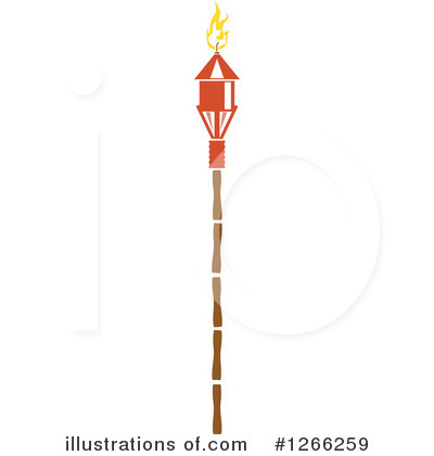 Tiki Torch Clipart #1266259 by BNP Design Studio