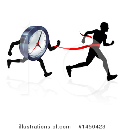 Runners Clipart #1450423 by AtStockIllustration