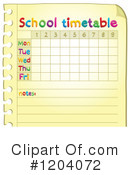 Time Table Clipart #1204072 by visekart