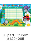 Royalty-Free (RF) Time Table Clipart Illustration #1204085