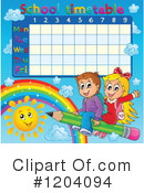 Time Table Clipart #1204094 by visekart