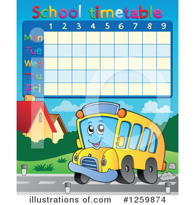 School Timetable Clipart #1259874 by visekart
