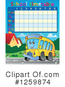 Royalty-Free (RF) Timetable Clipart Illustration #1259874