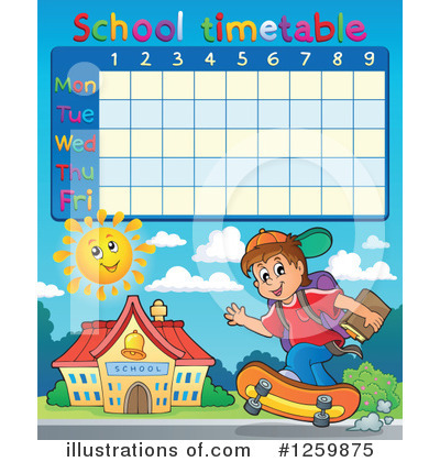 School Timetable Clipart #1259875 by visekart