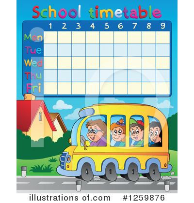 School Timetable Clipart #1259876 by visekart