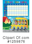 Royalty-Free (RF) Timetable Clipart Illustration #1259876
